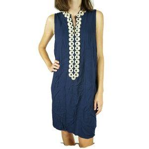 Lilly Pulitzer Jane Shift Dress Navy Gold Size 4